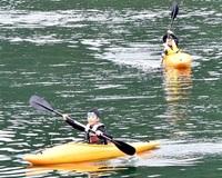 湖すいすい自然満喫 大野・海洋ク カヌーやSUP みんなで読もう
