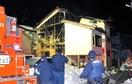 火災4日後、全焼住宅から再び出火