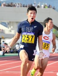 福井のナイター陸上に桐生祥秀選手