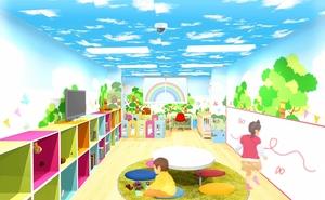 福井県福井市の片町に柿木有紀さんが開設する託児所のイメージ