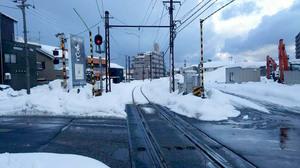 えちぜん鉄道三国芦原線=12日午後5時ごろ、福井市