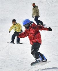 ゲレンデやっと歓声 大野・和泉スキー場 開業30年、初営業最も遅く