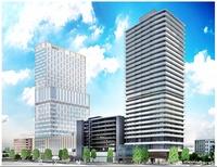 再開発起工、マリオット120mホテル棟から建設 JR福井駅西口の「三角地帯」A街区