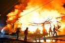 福井市で深夜火災、住宅焼く