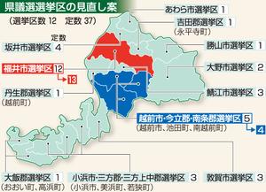 福井県議選選挙区の見直し案