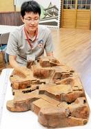 延岡城の「木図」を坂井で発見