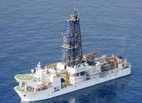 巨大噴火の海底堆積物を採取