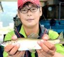 越前市の日野川で尺鮎をゲット