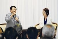 稲田朋美氏、憲法改正テーマに対談
