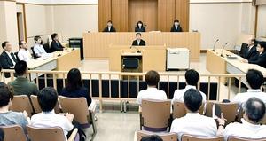 新任教諭の自殺を巡り争われた訴訟の判決が言い渡された2号法廷=7月10日、福井県福井市の福井地裁