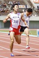 橋元が男子200メートル3連覇