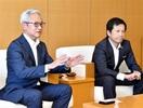 早く深く顧客に提案 福井銀 常務ら来社し抱負