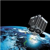 2019年度の打ち上げを目指す超小型人工衛星「福井県民衛星」のイメージ図(アクセルスペース提供の画像を一部加工)