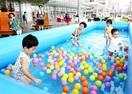 ハピテラスで水遊び 福井 子どもプール登場