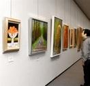 ■県立美術館の講座修了生が絵画展