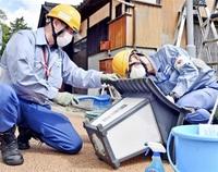 【啓発】関西電力送配電が若狭町で街灯清掃
