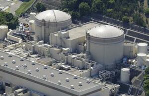 関西電力大飯原発の1号機(右)と2号機=5月、福井県おおい町