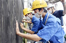 今庄宿改修に高校生や学生が協力