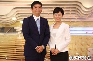 10月から『みんなのニュース』のMCを務める伊藤利尋と島田彩夏アナウンサー(C)フジテレビ