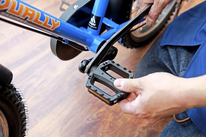 【自転車の乗り方練習法】レンチなどで自転車ペダルを外そう