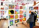県幼児画コンクール 西武福井店を 皮切りに展示