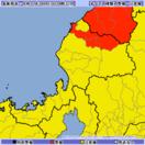 福井県内3市町に大雨警報