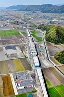 八つの駅名候補が決まった北陸新幹線の仮称・南越駅付近=4月25日、福井県越前市大屋