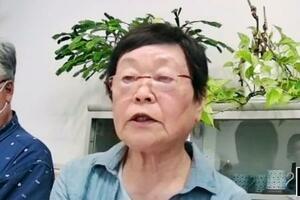 「全国空襲被害者連絡協議会」がオンラインで開いたイベントで、東京大空襲に遭い孤児になった体験を語る吉田由美子さん=14日