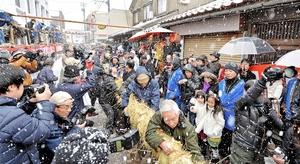 夷子大黒綱引き=2014年1月19日、福井県敦賀市相生町