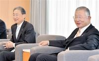 「関西に働き掛ける」 北陸電会長(北経連会長)ら来社 新幹線敦賀以西23年着工へ