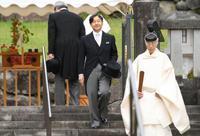 皇太子さまが武蔵陵参拝