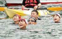 小浜っ子の伝統、遠泳始まる