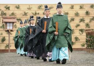 皇居・東御苑で行われた「大嘗祭前一日大嘗宮鎮祭」=13日午後(代表撮影)