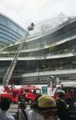 熊本市中心部で火災、一時騒然