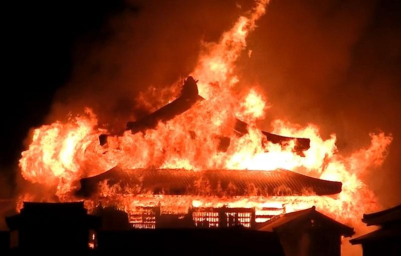 首里城火災の出火元は正殿の内部か 那覇市消防局、出火原因特定