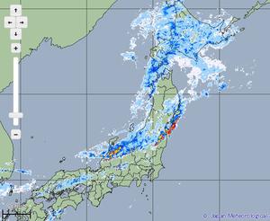 福井県内6市に大雨警報