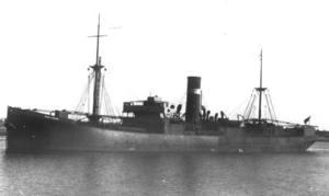 沈没する前のオーストラリアの貨物船「SSアイアンクラウン」(オーストラリア連邦科学産業研究機構提供、共同)