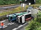 北陸道十数台絡む事故、負傷者多数