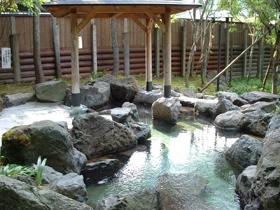 杣山麓の温泉。特産の花はす風呂や料理も
