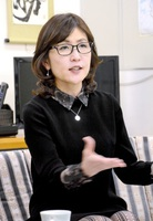 敦賀以西ルートの年内決定に意欲を見せる稲田朋美自民党政調会長=1月30日、福井市内
