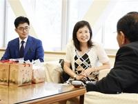 ハスで振興 情報交換 台湾・白河区 南越前町長を表敬