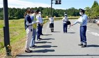 【啓発】越前町で交通死亡事故の現場点検