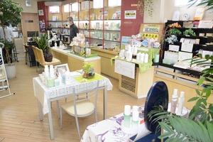 新型コロナウイルスの影響で、化粧品店は売り上げ不振が続いている=福井県福井市みのり2丁目の「パウダーハウスSHIBATA」