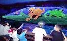 ジャム勝山で恐竜イルミネーション