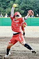 9奪三振の力投を見せた上野由岐子投手