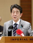 首相、総裁4選強く否定