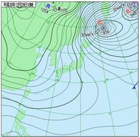 12月29日午後6時現在の天気図(気象庁HPより)
