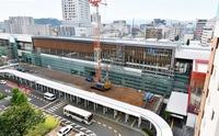 北陸新幹線「JR福井駅」、駅舎外観お目見え 2022年夏ごろ完成予定、建設工事進む