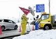 福井大雪、多数の道路標識アウト