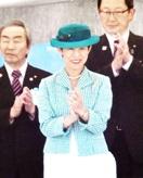 高円宮妃久子さま国体サッカー観戦